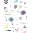 memphis forms fashion 80s 90s style abstract white vector image