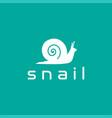 modern minimalist simple snail slug logo design vector image