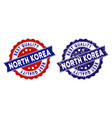 north korea best quality stamp with scratched vector image