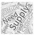 office supply store Word Cloud Concept vector image vector image