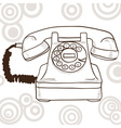 Old vintage telephone - retro vector image