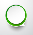 Paper white-green round speech bubble vector image vector image