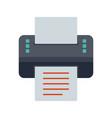printer flat multi color vector image