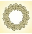 round frame from oak leaves vector image vector image