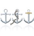 rusty anchor vector image vector image