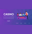 sad man lost in poker casino dealer clear table vector image vector image