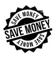 save money rubber stamp vector image vector image