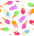 seamless pattern with colorful ice cream cone vector image vector image