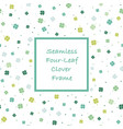 seamless square springtime frame vector image vector image