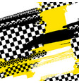 seamless tire pattern vector image vector image