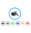 search computer rounded icon vector image
