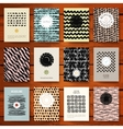 set grunge vintage cards with black hand drawn vector image vector image