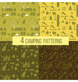 Set of Seamless Camping Patterns vector image vector image