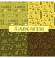 set seamless camping patterns vector image vector image