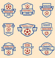 set soccer football emblems design element vector image vector image