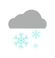 simple snowflake rain vector image