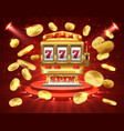slot machine banner casino gambling roulette vector image