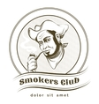 Smokers Club vector image