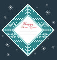 square christmas card with irish jacquard pattern vector image vector image