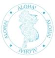 Stamp aloha vector image