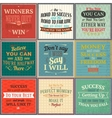 Success quotes colored set vector image vector image