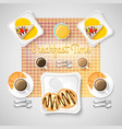 sweet breakfast food concept vector image vector image