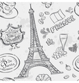texture with the image of the Eiffel Tower vector image vector image