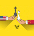 trade war concept vector image