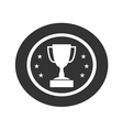 Trophy cup with stars icon 1 vector image