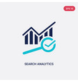 two color search analytics icon from business and vector image vector image
