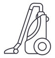 vacuum cleaner line icon sign vector image