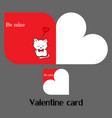 valentine card with cat vector image
