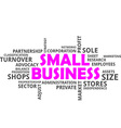 word cloud small business vector image vector image