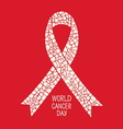 World Cancer Day symbol vector image vector image