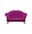 purple sofa isolated icon vector image