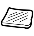 isolated bread outline vector image