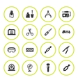 Set round icons of manicure vector image
