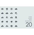 Set of cloud data technology icons vector image