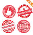 Stamp sticker recommended collection - - EP vector image