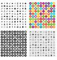 100 career fair icons set variant vector image