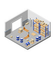 3d isometric storage factory warehouse vector image vector image