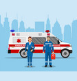 ambulance medical service first aid concept vector image vector image