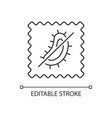 antimicrobial fabric feature linear icon vector image vector image