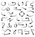 arrows black filigree icons vector image vector image