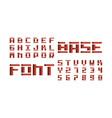 base volume font alphabet vector image