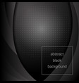 black abstract background vector image vector image