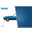 blueprint retro car american vector image vector image