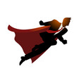 businessman as superhero flying fast vector image