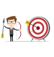 Businessman hit the target vector image vector image