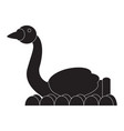 carnival swan ride silhouette vector image